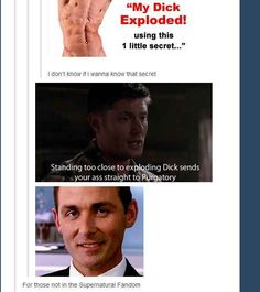 """They have a GIF for exploding dick:   Definitive Proof That The """"Supernatural"""" Fandom Has A GIF For Everything"""