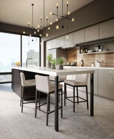 With the improvement of people's living standards, kitchen design has become one of the focuses of modern home design. The kitchen is not only the… Home Decor Kitchen, New Kitchen, Kitchen Interior, Kitchen Dining, Kitchen Ideas, Kitchen Cabinets, Kitchen Layout, Awesome Kitchen, Kitchen Hacks