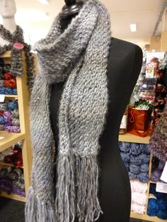 Try this pattern & learn how to knit your own scarf