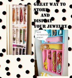 Teen girl, dorm room jewelry display ideas