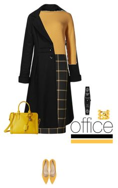 Office outfit: Black - Mustard by downtownblues on Polyvore