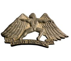 """HARLEY DAVIDSON Eagle Man vintage pin lapel badge metal motorcycle Official Merchandise by VintageTrafficUSA  65.00 USD  A vintage Harley Davidson eagle man pin used but excellent condition. Official Harley logo on back! Measures: approx 2"""" wide Have some individuality = some flair! 20 years old hard to find vintage high-quality lapel/pin. These rare pins are proven to win you friends and influence people! Add inspiration to your handbag tie jacket backpack hat or wall…"""