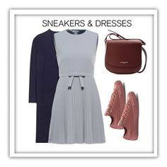 """""""Sneaker & Dresses"""" by claudyabenedicta on Polyvore featuring Jardin des Orangers, RED Valentino, Converse and Lancaster"""