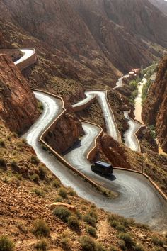 Dadès Gorges, High Atlas, Morocco Wow what a ride that would be!!!