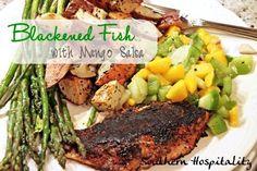 Blackened Fish with Mango Salsa