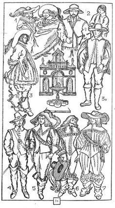 Костюм эпохи барроко мушкетера