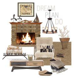 """Winter Cabin"" by valeria-mezhevikina ❤ liked on Polyvore featuring interior, interiors, interior design, home, home decor, interior decorating, Bliss Studio, Amanti Art, Surya and Massoud"