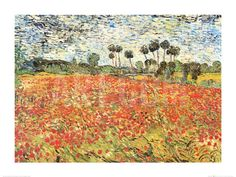 Field of Poppies, Auvers-Sur-Oise, c.1890 Art Print by Vincent van Gogh at Art.com