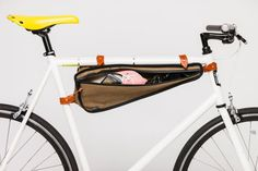 Bike Frame Bag in Weather-proof Canvas by TheBeebeCompany  HELP A DAD OUT FOR FATHER'S DAY