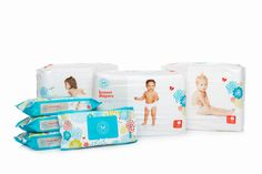$79 Honest Diapers Bundle - Biodegradable Diapers - The Honest Company    100% non-toxic, chlorine-free, sustainable, and plant-based materials – ensuring your baby is safe and NOT exposed to any harsh or synthetic chemicals (ever!)