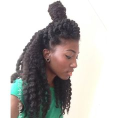 Natural hair twist out