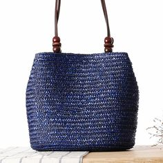 2016 Fashion Design Straw Knitting Women Shoulder Bags Beach Bags Women Scarf Tote Handbags For Ladies Summer Tote Bags T400
