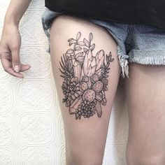 Crystal thigh piece by Johno