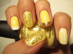 Yellow Nail Designs For Sunny Days - fashionsy.com
