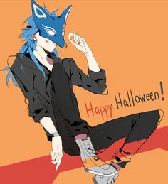i decided to draw Aoba in my own Halloween outfit. - End of My Halcyon Days Anime Style, Manhwa, Fisheye Placebo, Happy Holloween, Nitro Chiral, Dramatical Murder, Halcyon Days, Anime Shows, Old Friends