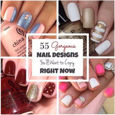 55 Beautiful Nail Designs You'll Want to Copy Right Now! #Beauty #Musely #Tip