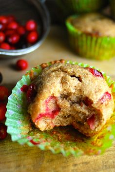 These are delicious! Easy, vegan Cranberry Banana muffins. Perfect for Christmas or anytime you can get fresh cranberries. Moist & full of flavor, without the need for eggs or dairy.