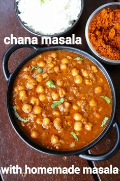 chana masala recipe, chickpea masala, chana curry, chana masala curry with step by step photo/video. tasty north indian curry with chickpea & spices. Puri Recipes, Spicy Recipes, Cooking Recipes, Vegetarian Recipes, Indian Veg Recipes, Indian Dessert Recipes, Punjabi Recipes, African Recipes, Chinese Recipes