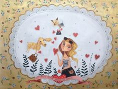 elsbeth eksteen: specially made. Arte Dachshund, Whimsical Art, Pet Portraits, Art Pictures, Decorative Plates, Character Design, Ceramics, Fun, Heart