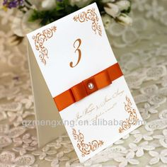 PC002---orange newest printing table place card