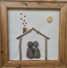 Pebble art new baby