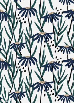 Many people believe that there is a magical formula for home decoration. You do things… Illustration Inspiration, Pattern Illustration, Graphic Illustration, Daisy Pattern, Pattern Art, Vector Pattern, Nature Pattern, Free Pattern, Cute Wallpapers