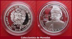 Banco Central de reserva del Perú Moneda de plata conmemorativa del bicentenario del nacimiento del coronel Francisco Bolognesi Cervantes. UN SOL 2016