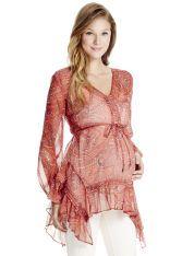 Jessica Simpson 3/4 Sleeve Hanky Hem Maternity Tunic