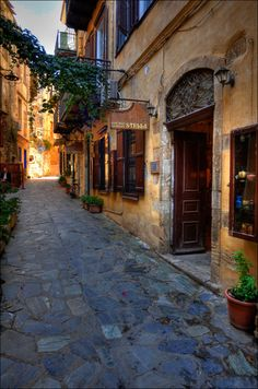 streets of the old part of chania | Flickr - Photo Sharing!