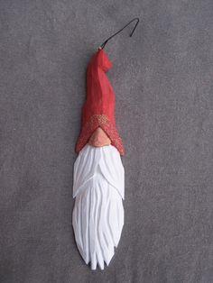 Hand carved Santa wizard tree ornament $15.00, via Etsy