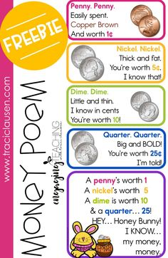Money Poem and Test FREEBIE • Traci Clausen - Engaging Teaching