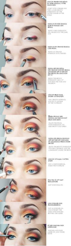 Trendy Makeup Ideas Step By Step Eyeshadows Linda Hallberg trendige Make-up-Ideen Schr Eyeshadow Looks, Makeup Eyeshadow, Makeup Brushes, Hair Makeup, Rimmel Makeup, Eyeshadow Brushes, Love Makeup, Makeup Inspo, Makeup Inspiration