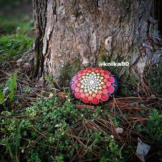 My first dot mandala stone  @knika90