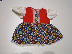 Schoene-alte-Puppenkleidung-12-Teile-alte-Puppenkleidung-Tracht-mit-Fehlern