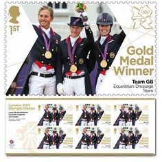 Britain - Royal Mail is not only painting a postbox Gold in the town of each Gold Medal winner.  They are also printing stamps showing all the British Gold Medal Winners (this is the dressage team).  NOT FOR PARA-OLYMPIC MEDAL WINNERS though - shame on you!