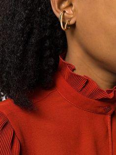 Charlotte Chesnais Triplet And Curl Earring - Farfetch Triplets, Ear Piercings, Silver Earrings, Jewerly, Curls, Charlotte, Chokers, Women Wear, Online Mobile