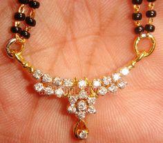 1.44ct Natural Diamond 3.930 14k Yellow Gold Wedding Mangalsutra #SKExports #Pendant  Price: US $699.00 Buy It Now