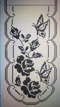 Photo from album Butterfly Cross Stitch, Cross Stitch Borders, Cross Stitch Designs, Cross Stitching, Cross Stitch Patterns, Crochet Dollies, Crochet Art, Thread Crochet, Crochet Tablecloth Pattern