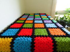 """Colorful Baby Blanket Rainbow Baby Blanket 35""""x35"""" Available from https://www.etsy.com/uk/shop/Phoenixsmiles"""