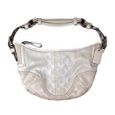 Spotted while shopping on Poshmark: Coach White Hobo Bag! #poshmark #fashion #shopping #style #Coach #Handbags