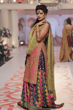 Telenor Bridal Couture Week 2015 Adnan Pardesy Wedding Dresses Pics