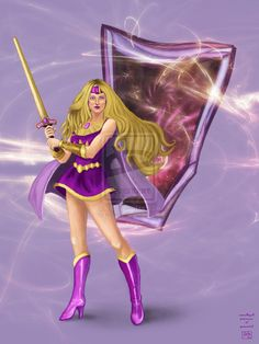 Amethyst, Princess of Gemworld -Didn't know about her when I was little, but I bet I would've loved her. She reminds me of She-Ra.