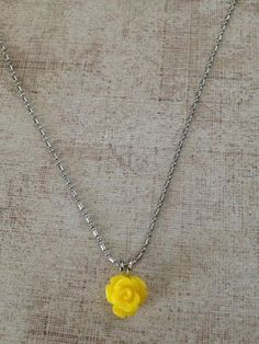 One true rose necklace 02 yellow rose resin jewelry real flower yellow rose necklace mozeypictures Gallery