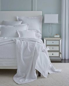 NEW Tanlia Coverlet by Sferra. Tanlia's soft, luxurious cotton is meant to be touched.