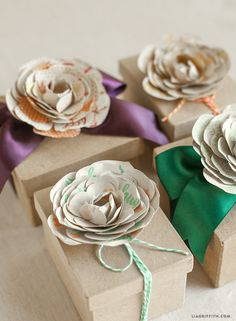 Lia Griffith | Simple Paper Flowers Stamped With Sweet Sentiments