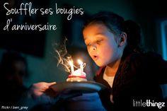 Souffler ses bougies d'anniversaire