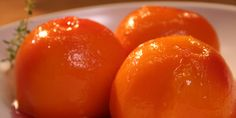 Thyme Poached Peaches