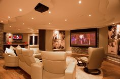 You can renovation basement room with make a media room, living room, wine At Home Movie Theater, Home Theater Rooms, Home Theater Design, Basement Remodel Diy, Basement Renovations, Home Remodeling, Basement Walls, Basement Ideas, Basement Designs
