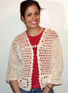 Ravelry: Cream Cotton Shrug pattern by Diane Langan