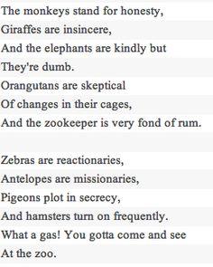 """At the Zoo"" by Simon and Garfunkel lyrics on a kid's room or nursery room wall"